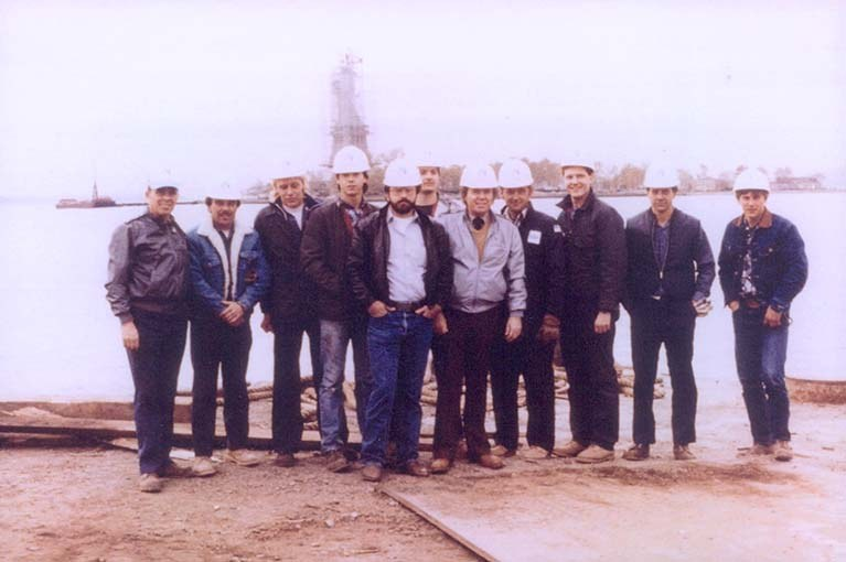 Statue of Liberty 1988 National Elevator company group photo