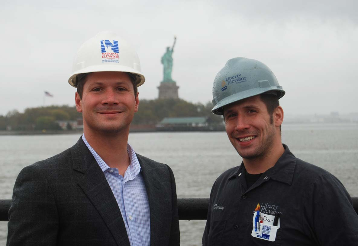 Doug & Darren Muttart at the Statue of Liberty